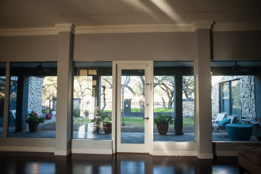 Interior | Before Renovation | single hinged door | sidelights | 2Fold | Steel | small business