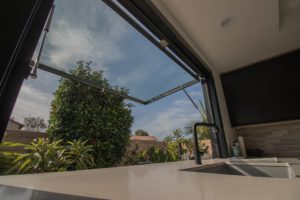 Fully engaged 2Fold pass through window. window designs by 2Fold. Improving your kitchen space.