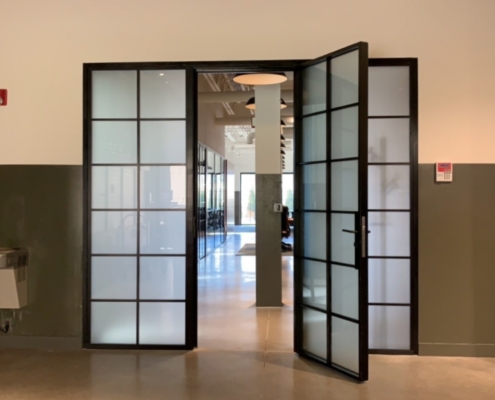 In-Swing Door, Side Lights, Combo, Fogged Glass