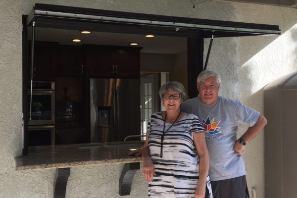 Mission Viejo – Kitchen to Patio Pass-Through Awning